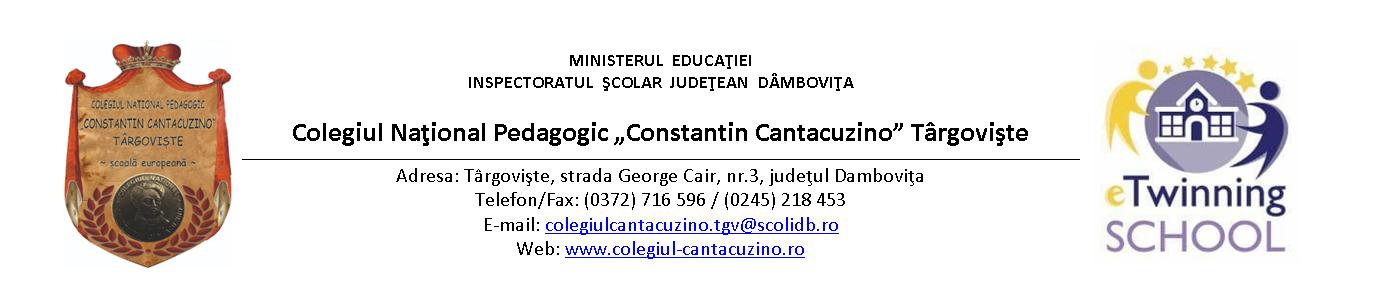 Colegiul National Pedagogic Constantin Cantacuzino